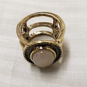 Pale Pink Pearlescent Ring